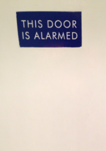 alarmed door